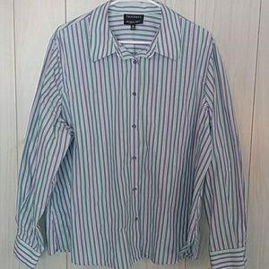 Foxcroft Long Sleeve Button Down Blouse Shirt 20W